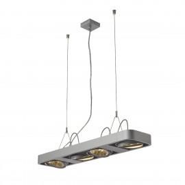 SLV Lighting Aixlight R2 Long QRB111 Pendant Light Silver Grey 159084