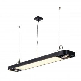 SLV Lighting Aixlight R2 Office T5 39w Pendant Light Black 159100