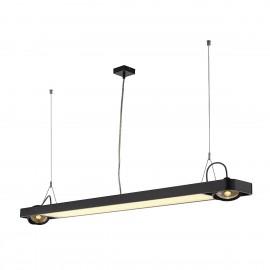 SLV Lighting Aixlight R2 Office T5 54w Pendant Light Black 159120