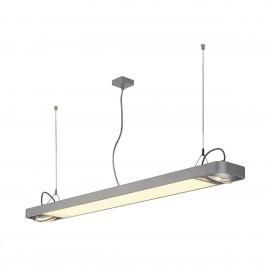 SLV Lighting Aixlight R2 Office T5 54w Pendant Light Silver Grey 159124