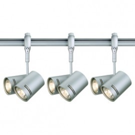 SLV Lighting 184442TK3 Bima 2 2x50W 3 Light Track Kit Silver Grey