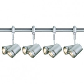 SLV Lighting 184442TK4 Bima 2 2x50W 4 Light Track Kit Silver Grey