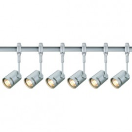 SLV Lighting 184452TK6 Bima 1 50W 6 Light Track Kit Silver Grey