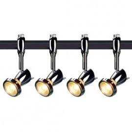 SLV Lighting 185092TK4 Siena 50W 4 Light Track Kit Chrome & Black