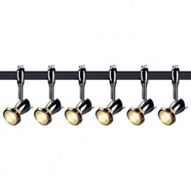 SLV Lighting 185092TK6 Siena 50W 6 Light Track Kit Chrome & Black