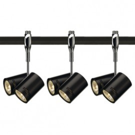 SLV Lighting 185440TK3 Bima 2 2x50W 3 Light Track Kit Chrome & Black