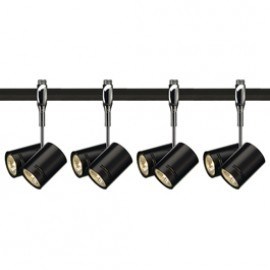 SLV Lighting 185440TK4 Bima 2 2x50W 4 Light Track Kit Chrome & Black
