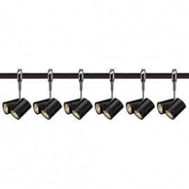 SLV 185440TK6 Bima 2 2x50W 6 Light Track Kit Chrome & Black