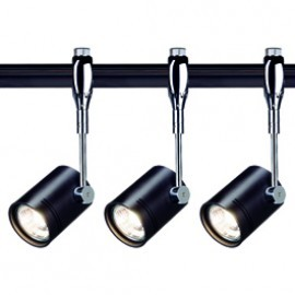 SLV Lighting 185450TK3 Bima 1 50W 3 Light Track Kit Chrome & Black