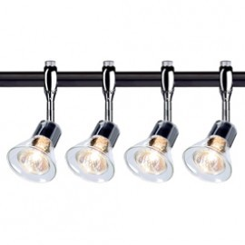 SLV Lighting 185632TK4 Anila 50W 4 Light Track Kit Chrome & Black