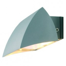 SLV Lighting Nova Outdoor Wall Light Silver Grey 227032