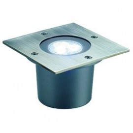 Wetsy Power LED Square Outdoor Wall & Ground Light Stainless Steel 227421