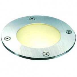 SLV WETSY inground fitting, round,stainless steel 316, GX53,max. 9W, round glass, IP67 227485