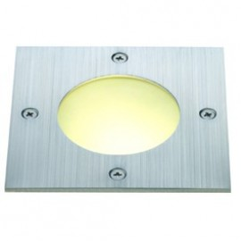 SLV Lighting Wetsy Square Round Window Outdoor Wall & Ground Light Stainless Steel 227490
