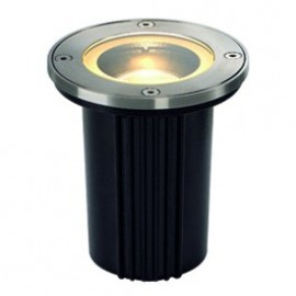 SLV Dasar Exact MR16 Round Outdoor Ground Light Brushed Stainless Steel 228420