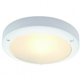 Bulan Outdoor Ceiling & Wall Light White, Silver Grey Or Metal Brushed 229071