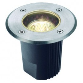 SLV Dasar 115 MR16 Fixed Round Outdoor Ground Light Stainless Steel 229340
