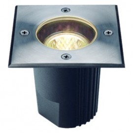 SLV Lighting Dasar 115 MR16 Fixed Square Outdoor Ground Light Stainless Steel 229344