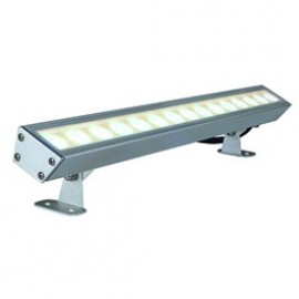 Galen LED Profile White Outdoor Ceiling, Wall & Floor Floodlight Anodised 229461