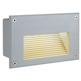 Brick LED Downunder Outdoor Wall Light Silver Grey 229701