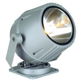 SLV Lighting Flacbeam HQI 70w Outdoor Ceiling, Wall & Floor Floodlight Silver Grey 230054
