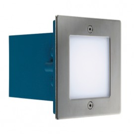 SLV Lighting Frame Outdoor 16 LED White Wall Light Brushed Stainless Steel 230131