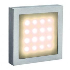 SLV Aites 16 LED Warm White Ceiling & Wall Light Brushed Aluminium 230252