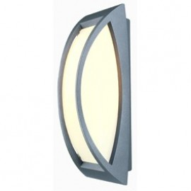 Meridian Outdoor Ceiling & Wall Light Anthacite Or Silver Grey Or Rust 230444
