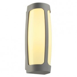 SLV Lighting Meridian 3 Outdoor Ceiling & Wall Light Silver Grey 230644