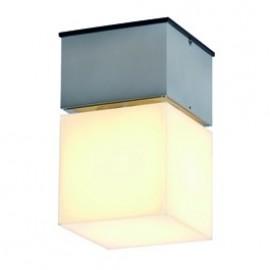 SLV Lighting Square C Outdoor Ceiling & Wall Light Brushed Aluminium 230716