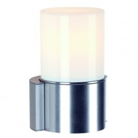 SLV Lighting Rox Acrylic Single Outdoor Wall Light Brushed Aluminium 230736