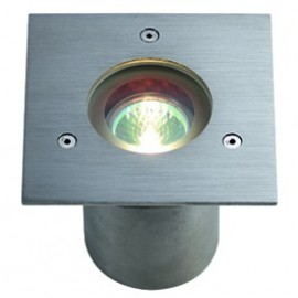 SLV N-Tic Pro MR16 Square Outdoor Wall & Ground Light Brushed Stainless Steel 230904