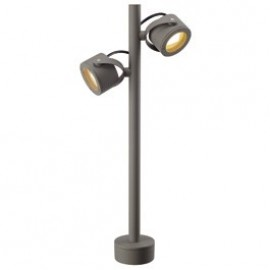 SLV Lighting Sitra 360 SL Outdoor Bollard Light Stone Grey 231504