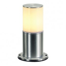 SLV Lighting Rox Acrylic Pole 30 Outdoor Bollard Light Brushed Aluminium 232256