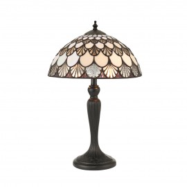 Interiors 1900 70368 Missori small table 40W Tiffany style glass & dark bronze paint with highlights