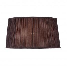 Interiors 1900 70814 Kemp 17 inch oval Black organza effect fabric & gloss white