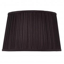 Interiors 1900 70815 Kemp 12 inch Black organza effect fabric & gloss white