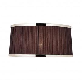 Interiors 1900 70823 Suffolk 13 inch Black organza effect fabric & polished nickel plate