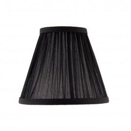 Interiors 1900 CA1BSHN Kemp 6 inch Black organza effect fabric & polished nickel plate