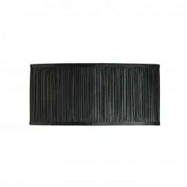 Interiors 1900 CA1FNBSH Kemp 18 inch oval 2lt Black organza effect fabric & gloss white
