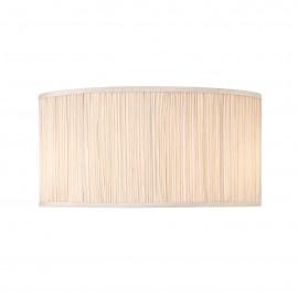 Interiors 1900 CA1FSH-W Kemp 18 inch oval 2lt Beige organza effect fabric & gloss white