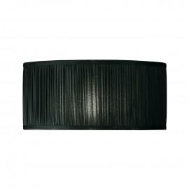 Interiors 1900 CA2BSHN Kemp 17 inch 3lt Black organza effect fabric & polished nickel plate