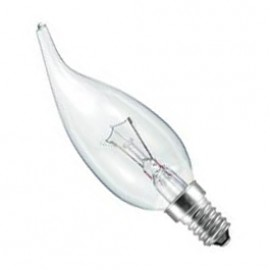SES E14 60W Candelux Lamp Clear Pack Of 10 CANDELUXSES60