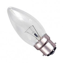 BC B22 40W Candle Lamp Clear Pack Of 10 CANDLEBC40