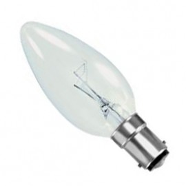 SBC B15 40W Candle Lamp Clear Pack Of 10 CANDLESBC40