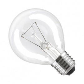 ES E27 25W Golf Ball Lamp Clear Pack Of 10 GOLFES25