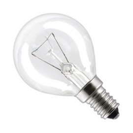 SES E14 40W Golf Ball Lamp Clear Pack Of 10 GOLFSES40