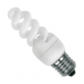 SES E14 7W Cool White Compact Fluorescent Lamp SES07CFC