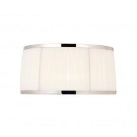 Interiors 1900 UL2TNSHW Suffolk 13 inch White organza effect fabric & polished nickel plate