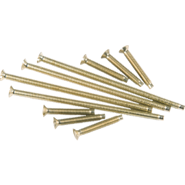 Knightsbridge B-SCREW75 M3.5 x 75mm Slotted Brass Plate Screw